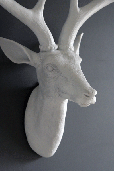 White Deco Deer Head, £55, Rockett St George